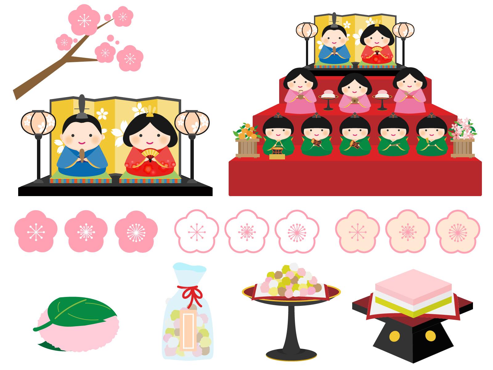 ひな祭りのかわいい無料フリーイラストサイトおすすめ10選! | 育児ネット